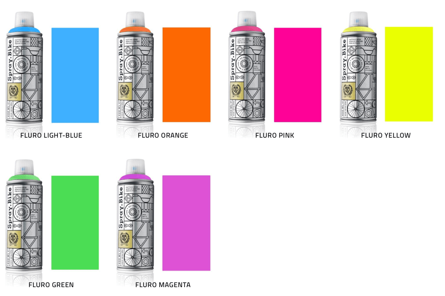 Spray.bike Paint Fluorescent Collection 1
