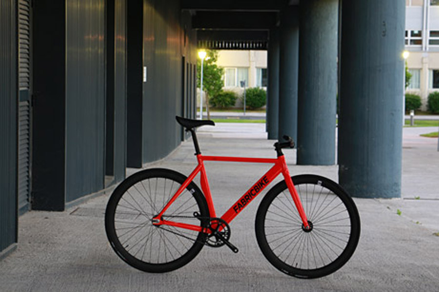 FabricBike Air+ Track Bicycle - Light Red 2