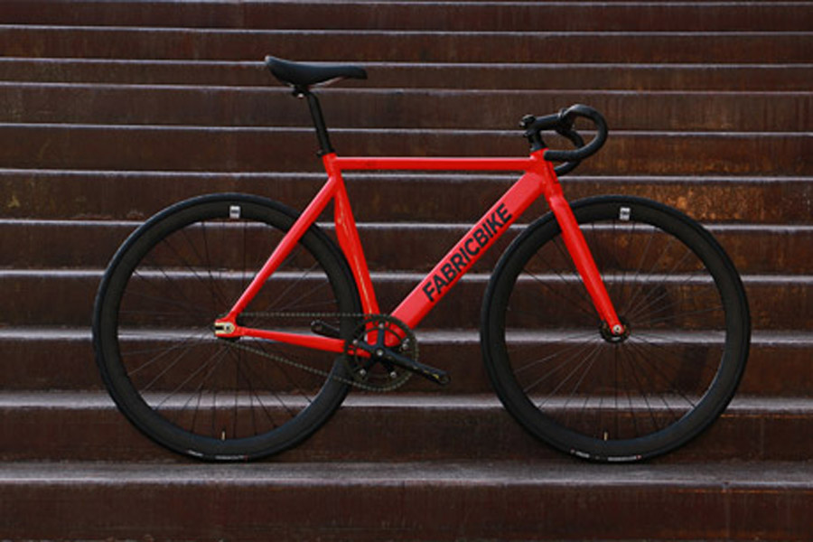 FabricBike Air+ Track Bicycle - Light Red 3
