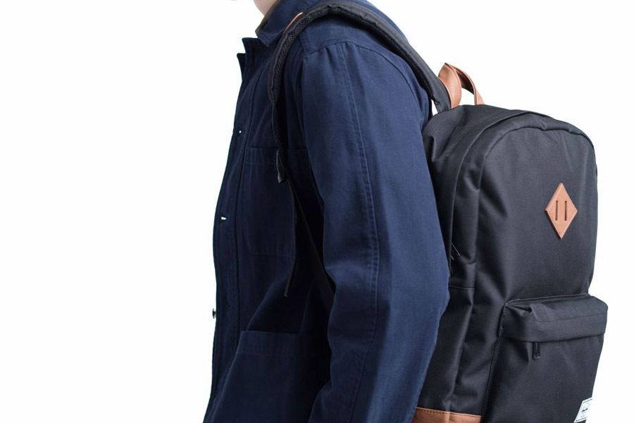 a3794f80a8b Herschel Heritage Black Tan Backpack