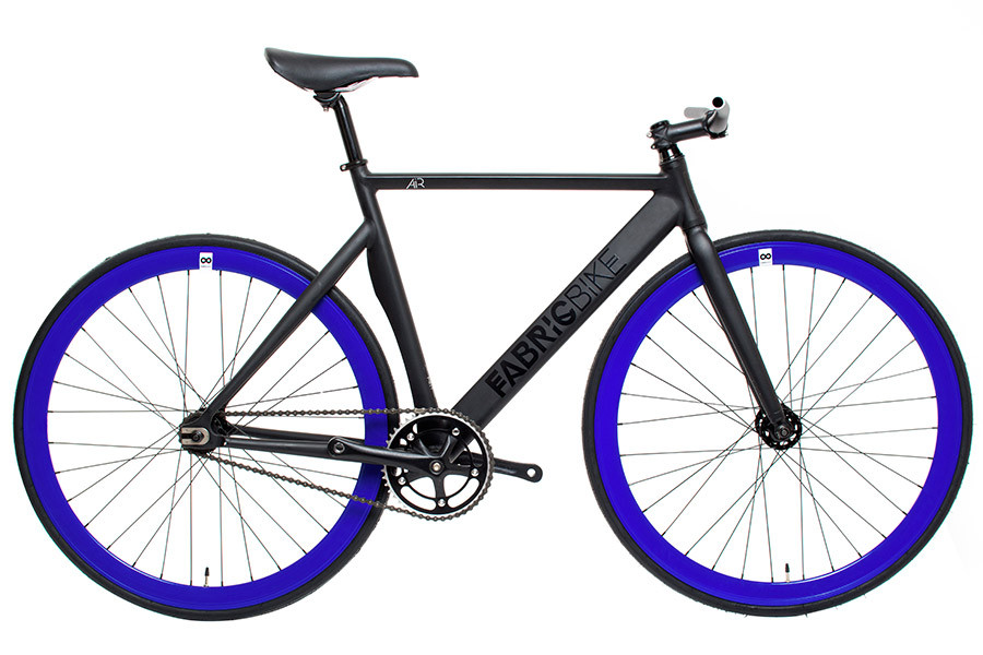 buy the fabricbike air matte black blue track bicycle. Black Bedroom Furniture Sets. Home Design Ideas