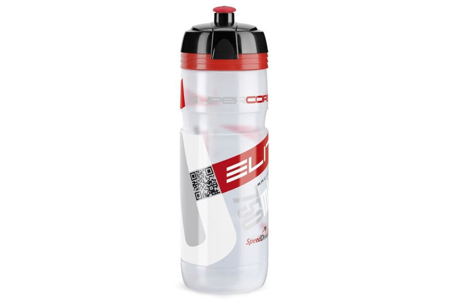 Elite Supercorsa 750ml Bicycle Bottle - Translucent/Red