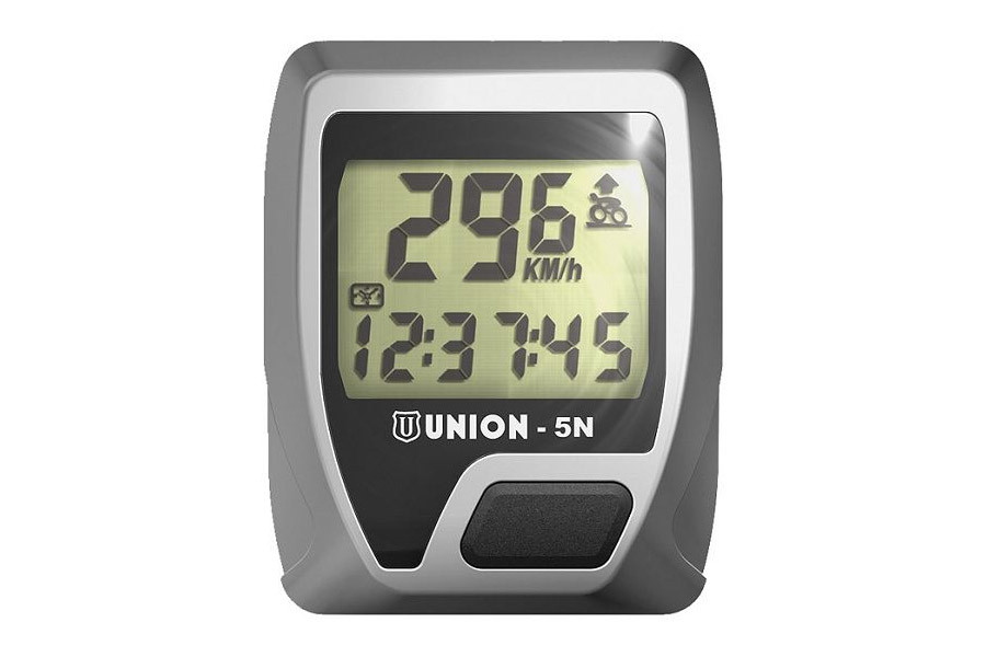 Union 5 Functions Cycle Computer - Silver
