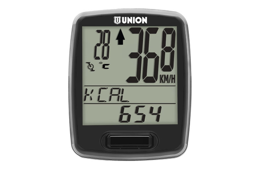 Union 12 Functions Wireless Cycle Computer - Black