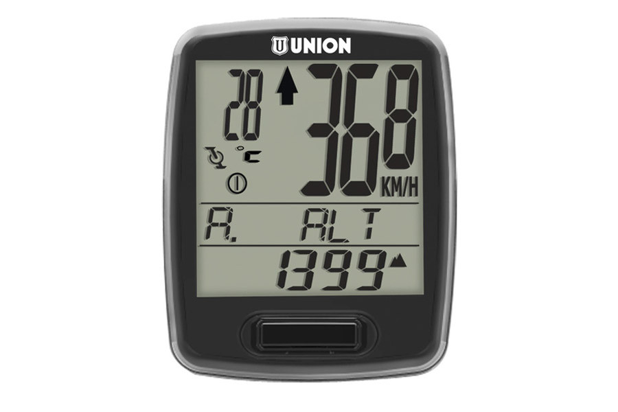 Union 7 Functions Wireless Cycle Computer - Black