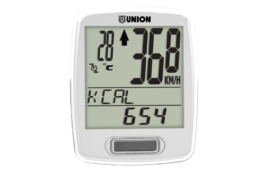 Union 12 Functions Wireless Cycle Computer - White