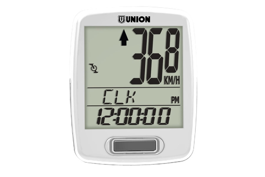 Union 7 Functions Wireless Cycle Computer - White