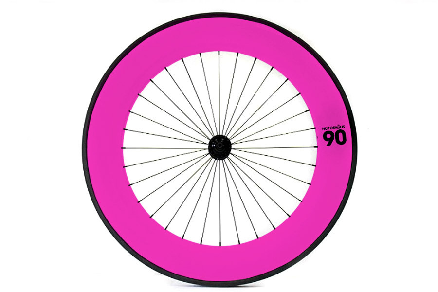Notorious 90 Front Track Wheel - Pink