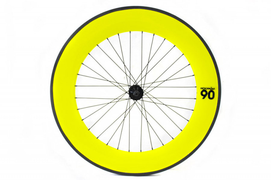Notorious 90 Rear Track Wheel - Yellow
