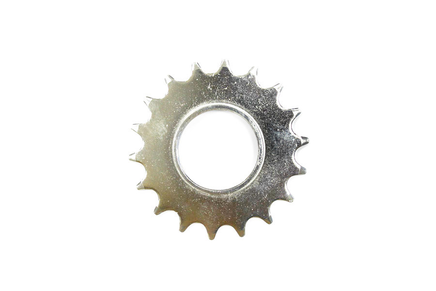 Fixed Gear Track Sprocket 18T + Lock Ring - Silver