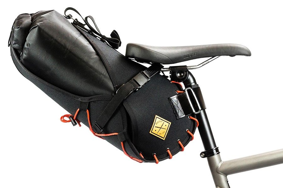 Restrap 8L Saddle Bag - Black/Orange
