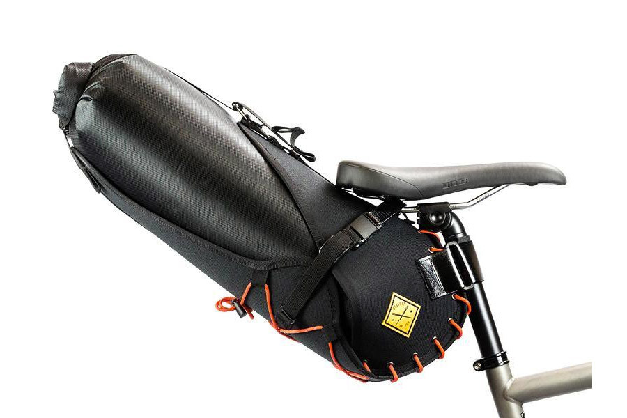 Restrap 14L Saddle Bag - Black/Orange