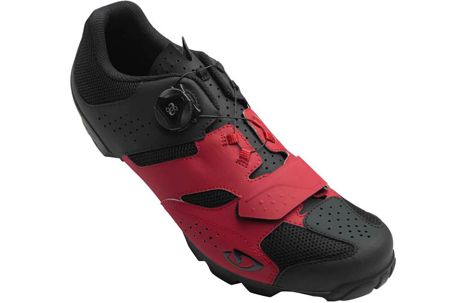 Giro Cylinder Cyclist Shoes - Red Black