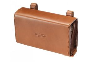 Brooks D-Shaped Leather Saddle Bag - Honey