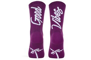 Pacifico Good Vibes Socks - Eggplant