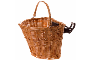 Bicycle Wicker Front Basket - Clip fixing