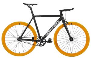 FabricBike Light Track Bicycle - Black & Orange