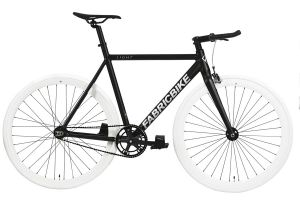 FabricBike Light Track Bicycle - Black & White
