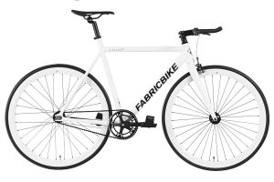 FabricBike Light Track Bicycle - Fully Glossy White