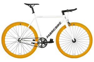 FabricBike Light Track Bicycle - White & Orange