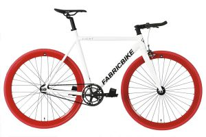 FabricBike Light Track Bicycle - White & Red