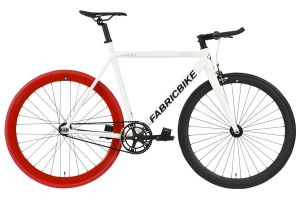 FabricBike Light Track Bicycle - White & Red & Black