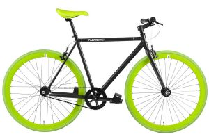 FabricBike Single Speed Bicycle - Matte Black & Green