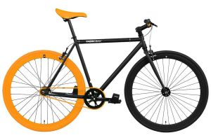 FabricBike Single Speed Bicycle - Black & Orange 3.0