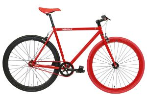 FabricBike Single Speed Bicycle - Red & Matte Black 2.0