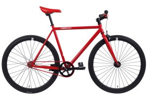 FabricBike Single Speed Bicycle - Red & Matte Black
