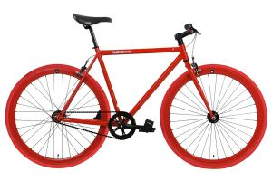 FabricBike Single Speed Bicycle - Fully Glossy Red