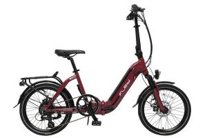 Flebi Swan Lite Folding e-Bike - Red Bordeaux