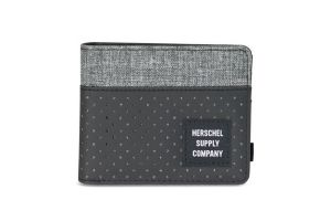 Herschel Roy Wallet - Black/Raven Crosshatch - Aspect Collection