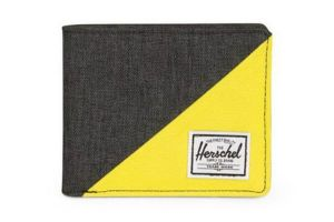 Herschel Roy RIFD Wallet - Black/Yellow