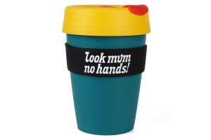 Look Mum No Hands! KeepCup Plastic 12oz - Teal