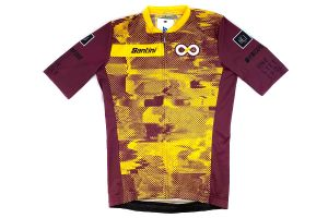 Santini One Life Cycle Team Jersey - Garnet/Yellow
