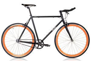 Quella Nero Orange Single Speed Bicycle
