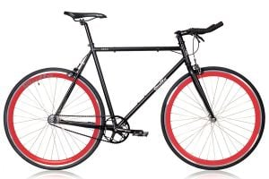 Quella Nero Red Fixie Bike