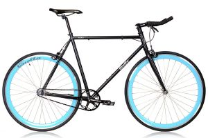 Quella Nero Sky Blue Single Speed Bicycle