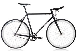 Quella Nero White Single Speed Bicycle