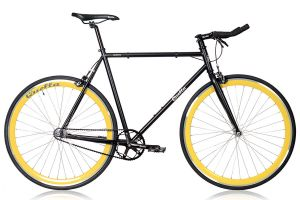Quella Nero Yellow Single Speed Bicycle