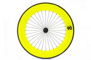 Notorious 90 Front Track Wheel - Yellow