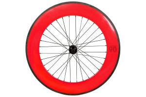Notorious 90 Front Track Wheel - Red