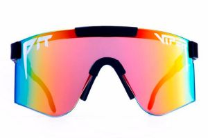 Pit Viper Mystery Reflective Double Wide Glasses - Rainbow