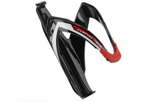 Elite Custom Race Bicycle Bottle Cage - Black/Red