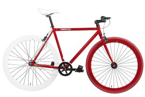FabricBike Single Speed Bicycle - Red & White 2.0