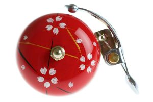 Crane Hand Painted Bell Red Spring