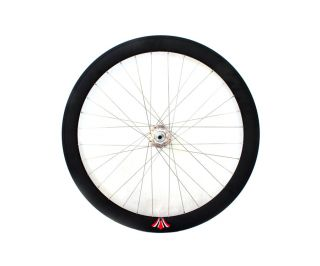 Star Rims Front Fixie Wheel 50mm Black/silver
