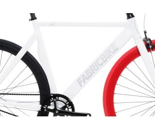 FabricBike Air+ Track Bicycle - White & Red