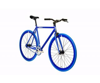 FabricBike Single Speed Bicycle - Fully Blue